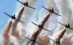 La Patrulla Águila sobrevolará Burgos en los Sampedros