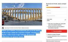 La absurda petición en change.org para que el Gobierno derribe el Acueducto, «símbolo de represión»