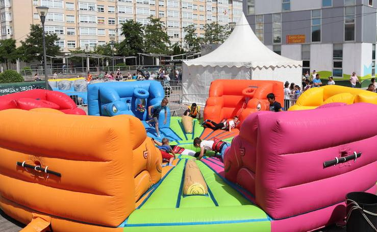 Atracciones infantiles en el Parque Félix Rodríguez de la Fuente