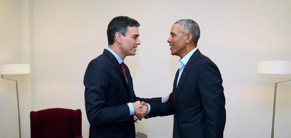 Pedro Sánchez acude a un cita exprés con Barack Obama fuera de la Moncloa