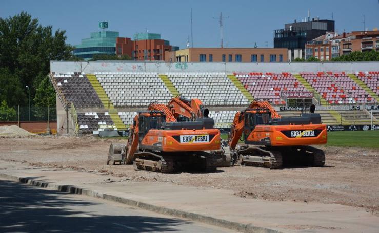 Avance de las obras del estadio municipal de El Plantío