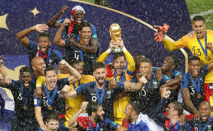 Francia-Croacia, en imágenes
