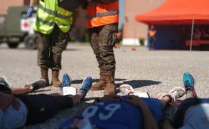 Cruz Roja Española en Burgos participa en un simulacro de atentado terrorista