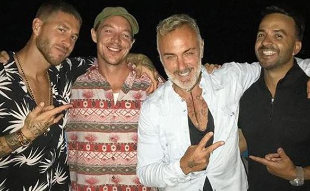 Sergio Ramos celebra su 'despedida' en Ibiza