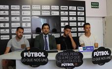 Asier Goti, Kevin García y Luis Acosta llegan cargados de ilusión y ambición al Burgos CF