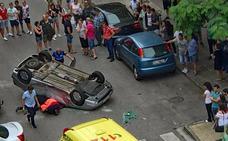 Herida una joven en una colisión entre dos turismos en Miranda de Ebro