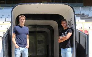 Antxón Jaso y Álex Machuca buscan su oportunidad en el Burgos CF