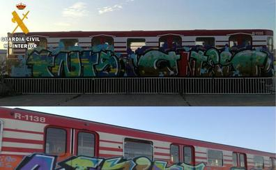 Detenidos dos grafiteros de Burgos acusados de causar daños por valor de 125.000 euros