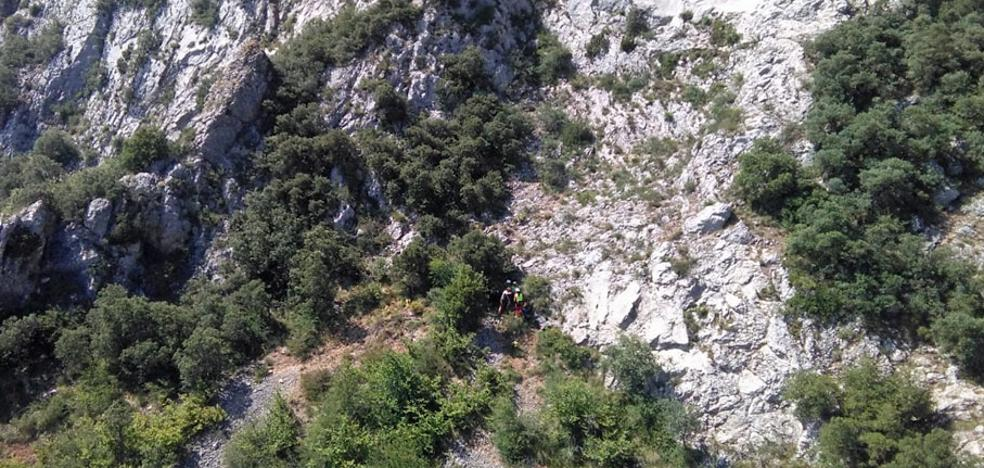 Evacuado un montañero que sufrió una caída en Pico de Cantoña en Cascajares de Bureba