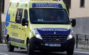 Herida una mujer tras la colisión de un camión y un turismo en la N-1