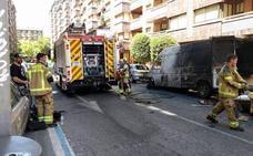El 112 gestiona en tres horas cuatro avisos por incendios de vehículos en Burgos, Palencia y Valladolid