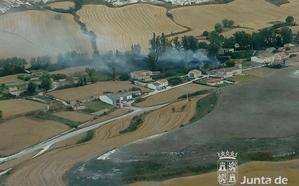 Dos incendios calcinan cinco hectáreas agrícolas en Rublacedo de Arriba e Iglesiarrubia