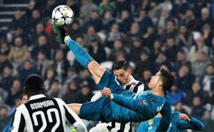 La chilena de Cristiano ante la Juventus, favorita a gol del año