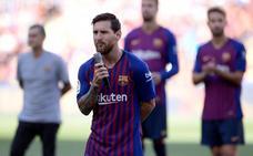 Messi: «Lo daremos todo para traer la Champions al Camp Nou»