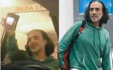 Alejandro Fernández hace un 'Melendi' en un avión