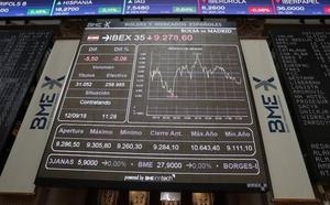 El Ibex recupera los 9.300 puntos con la ayuda de Inditex y Repsol y pese a la caída de Telefónica