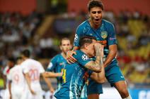 Las mejores imágenes del Mónaco-Atlético de Madrid