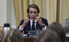 Los momentos más tensos de la comparecencia de Aznar en el Congreso