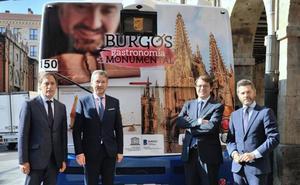 La gastronomía de Burgos ya luce en los autobuses de Salamanca y Valladolid