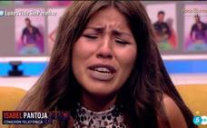 Isabel Pantoja da ánimos a su hija Chabelita, en directo
