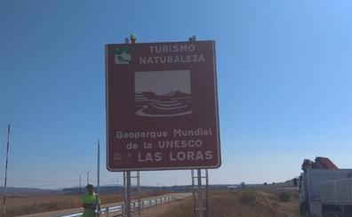 El Geoparque de Las Loras se hace visible en las carreteras regionales