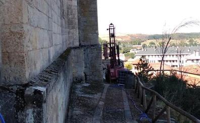 Los trabajos de prospección en la ladera norte de la Colegiata de Lerma ya están en marcha