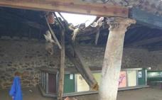 Barbadillo del Mercado restaura un soportal centenario que se hundió en verano