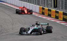 Hamilton, el tifón que teme Vettel en Suzuka