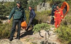 Rescatan a una senderista herida en el paraje de Las Calderas de Palacios de la Sierra