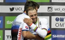 Valverde estrena el maillot arcoíris en los Tres Valles Varesinos