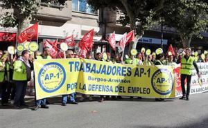 Los trabajadores de la AP-1 cortarán este jueves la N-I en Pancorbo