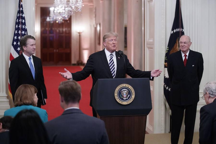Trump declara «inocente» de abusos sexuales al nuevo juez del Supremo