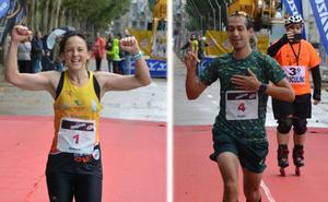 Rubén Juániz y Rebeca Ruiz inscriben su nombre en el Campofrío Maratón Burgos