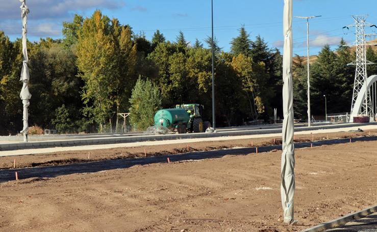 Comienza el asfaltado del Puente de la Universidad