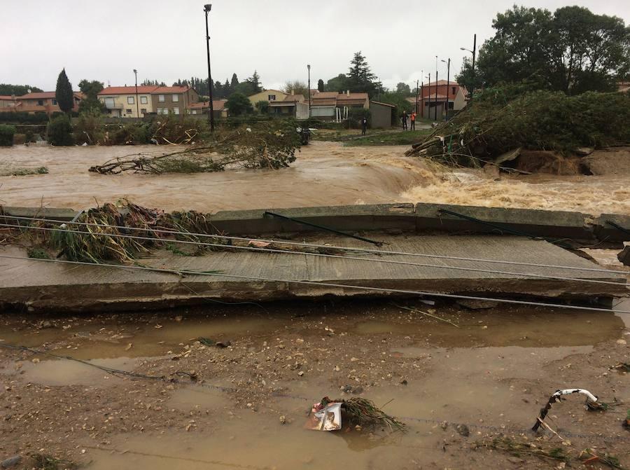 Al menos seis muertos por las innundaciones en el sur de Francia