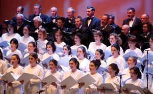 El Orfeón Donostiarra actuará junto al Burgalés en la Escalera Dorada de la Catedral