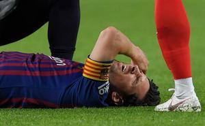 Messi marca el segundo y se retira lesionado