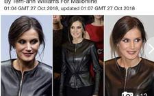 El 'look' rockero de la Reina Letizia en Valladolid sorprende en Reino Unido