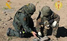El Ejército y la Guardia Civil realizan prácticas conjuntas de neutralización de municiones y artefactos explosivos