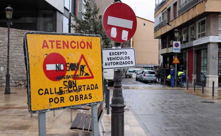 La plaza Hortelanos, en obras