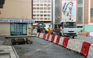 Comienzan las obras de mejora de la plaza Hortelanos