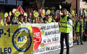 Los trabajadores de la AP-1 piden la subrogación de toda la plantilla
