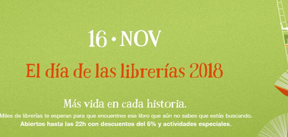 Mañana, 16 de noviembre, se celebra la VIII edición del Día de las Librerías
