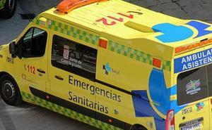 Herido un hombre de 48 años tras caerse de una escalera en Pajares