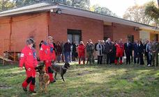 Visita a la unidad canina del Grupo de Rescate Espeleológico y de Montaña de Burgos