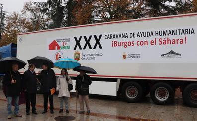 Burgos envía 22 toneladas de alimentos y 7 coches a los refugiados saharauis