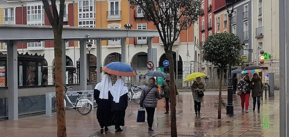 La lluvia llega a Burgos y se quedará, al menos, hasta el lunes