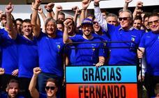 Alonso: «Me siento un privilegiado, gracias Fórmula 1»