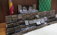 Golpe al tráfico internacional de droga con la incautación de 1.335 kilos de hachís en Salamanca