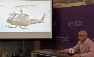 Un helicóptero militar estadounidense aterriza en el renovado museo de Belorado